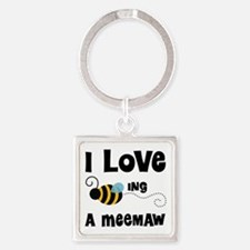 I Love Being A Meemaw Square Keychain