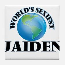 World's Sexiest Jaiden Tile Coaster
