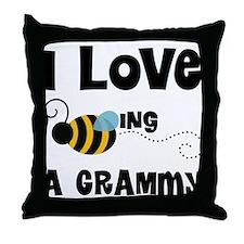 I Love Being A Grammy Throw Pillow