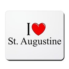 """I Love St. Augustine"" Mousepad"