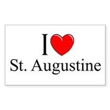 """I Love St. Augustine"" Rectangle Decal"