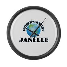 World's Sexiest Janelle Large Wall Clock