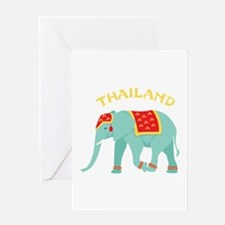 Thailand Elephant Greeting Cards