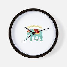 Thailand Elephant Wall Clock