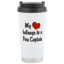 Cute Firefighter wife Travel Mug
