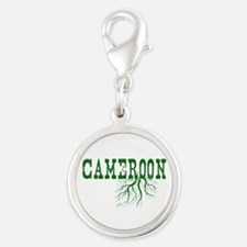 Cameroon Roots Silver Round Charm