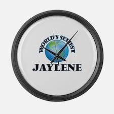 World's Sexiest Jaylene Large Wall Clock