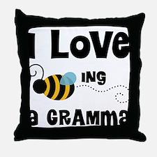 I Love Being A Gramma Throw Pillow
