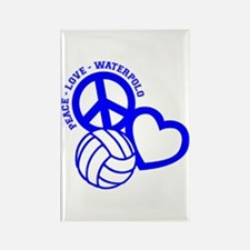 PEACE-LOVE-WATERPOLO Rectangle Magnet