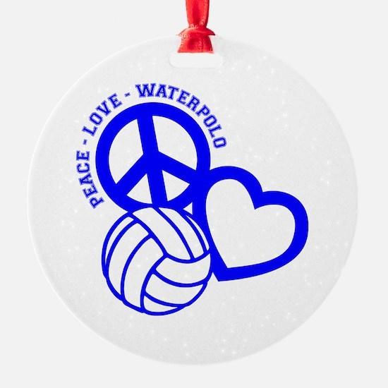 PEACE-LOVE-WATERPOLO Ornament