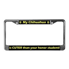 Honor Student Chihuahua License Plate Frame