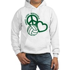 PEACE-LOVE-WATERPOLO Hoodie