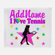 TENNIS PLAYER Throw Blanket