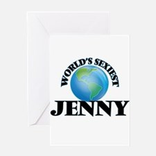 World's Sexiest Jenny Greeting Cards