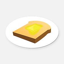 Bread Slice Oval Car Magnet