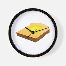 Bread Slice Wall Clock