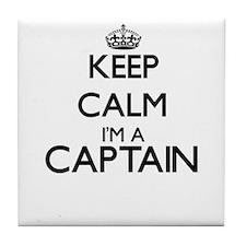 Keep calm I'm a Captain Tile Coaster