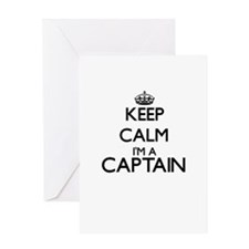 Keep calm I'm a Captain Greeting Cards