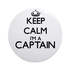 Keep calm I'm a Captain Ornament (Round)