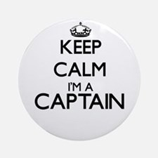 Keep calm I'm a Captain Ornament (Round)