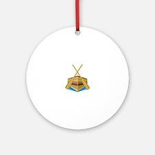 Row Boat Ornament (Round)