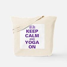 Keep Calm and Yoga On Tote Bag