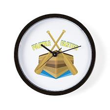 Paddle Faster Wall Clock