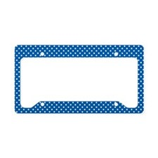 Polka Dots (Blue - White) License Plate Holder
