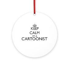 Keep calm I'm a Cartoonist Ornament (Round)