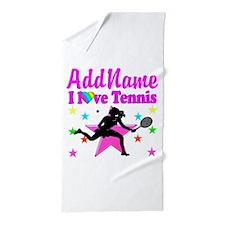 TENNIS PLAYER Beach Towel