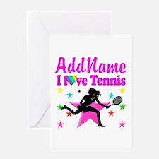 TENNIS PLAYER Greeting Card