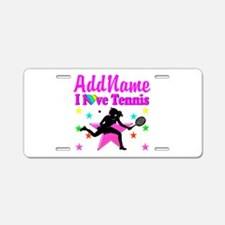 TENNIS PLAYER Aluminum License Plate