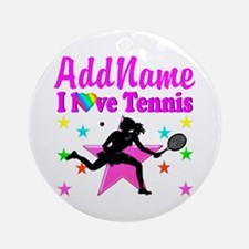 TENNIS PLAYER Ornament (Round)