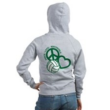 PEACE-LOVE-WATERPOLO Zip Hoodie