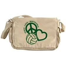 PEACE-LOVE-WATERPOLO Messenger Bag