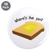 "Where's the Jam 3.5"" Button (10 pack)"