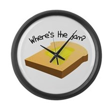 Where's the Jam Large Wall Clock
