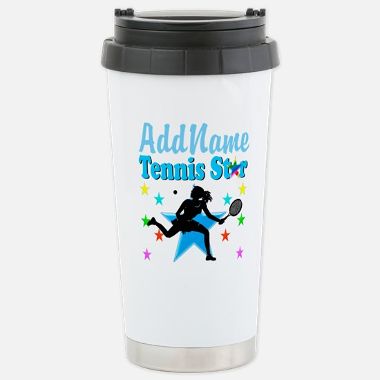 TENNIS PLAYER Stainless Steel Travel Mug