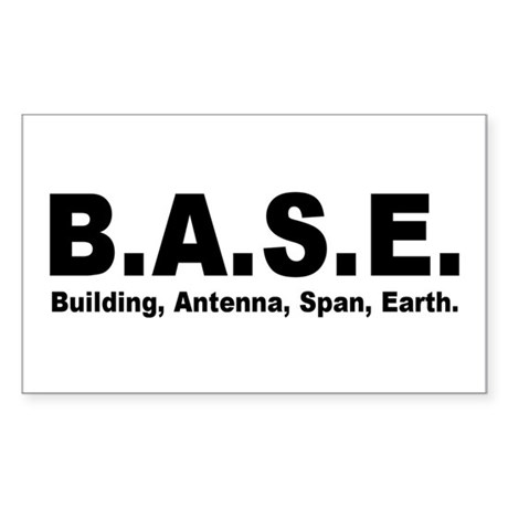 BASE Jumping Rectangle Sticker