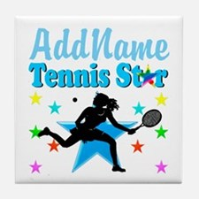 TENNIS PLAYER Tile Coaster