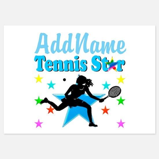 TENNIS PLAYER 5x7 Flat Cards