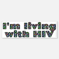Living with HIV - Sticker (Bumper)