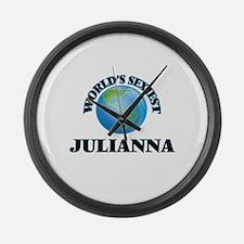 World's Sexiest Julianna Large Wall Clock