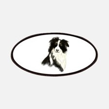 Watercolor Border Collie Dog Pet Animal Patches