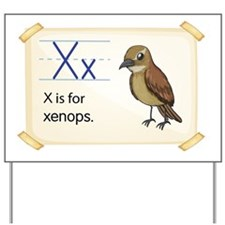 Letter X Yard Sign