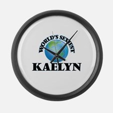 World's Sexiest Kaelyn Large Wall Clock