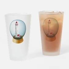 A crystal ball with a lighthouse in Drinking Glass