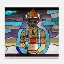 Dhanvantari Stained Glass Panel Tile Coaster
