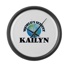World's Sexiest Kailyn Large Wall Clock