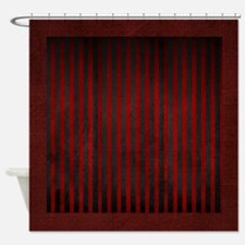 Velvet Stripes On Suede Shower Curtain